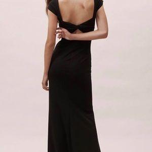 BHLDN Anthropologie Long black dress